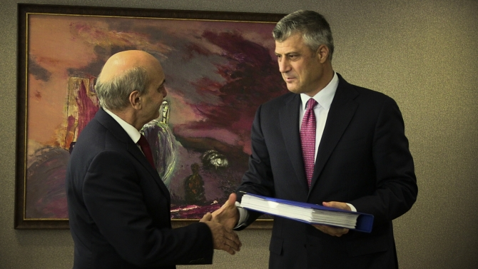 Isa Mustafa takes office as Kosovo's new PM