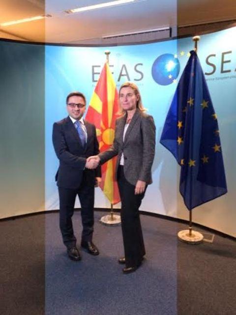 EU: Mogherini reaffirms FYROM's European perspective