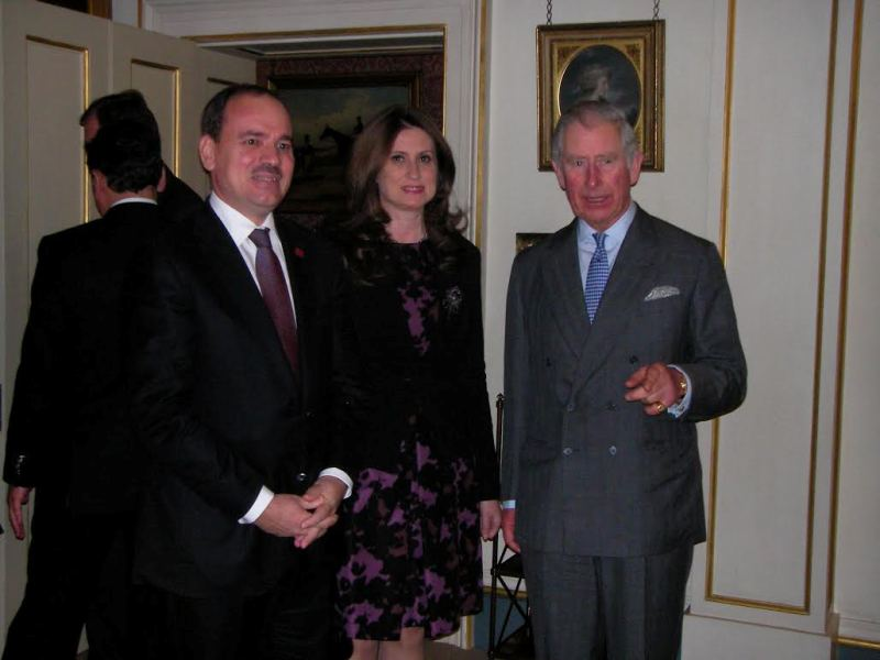 President Nishani received by Prince Charles