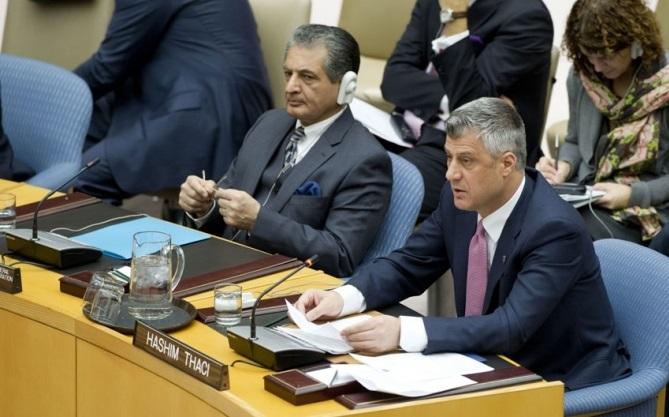 UNO, PM Thaci demands for Kosovo's progress to be recognized