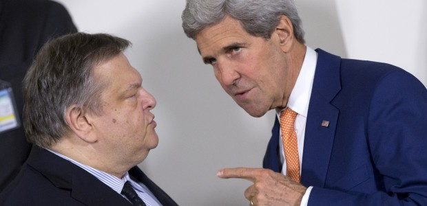 Venizelos did not attend the Conference against IS due to the use of the name 'Macedonia'