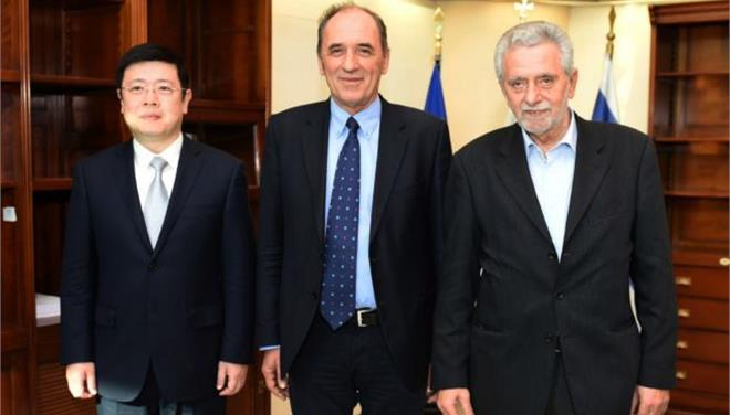 Stathakis and Dritsas met with the Chinese ambassador in Athens