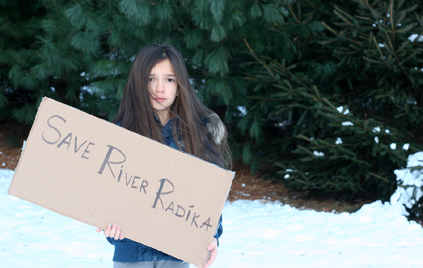 Thousands of residents anxious about the decision on Radika's river