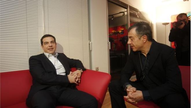 Alexis Tsipras met with Stavros Theodorakis