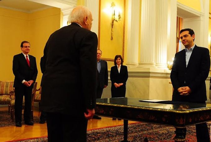 Alexis Tsipras was sworn Prime Minister