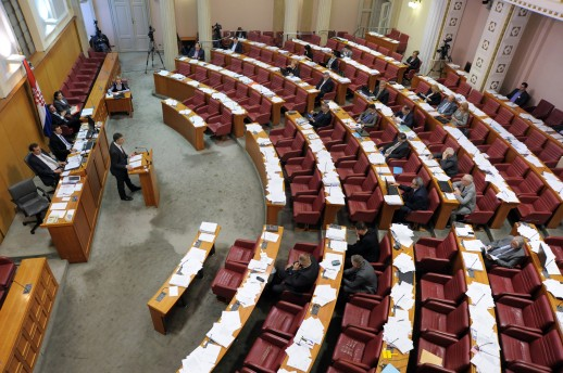 Croatian Parliament adopts proposal that will freeze franc-kuna exchange rate for 12 months