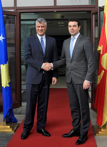 Thaci in Skopje: The model of talks between Pristina and Belgrade must be used for the solution of the name dispute