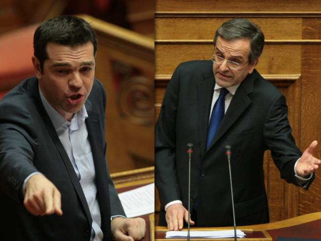 Greek election front runners debate economic future