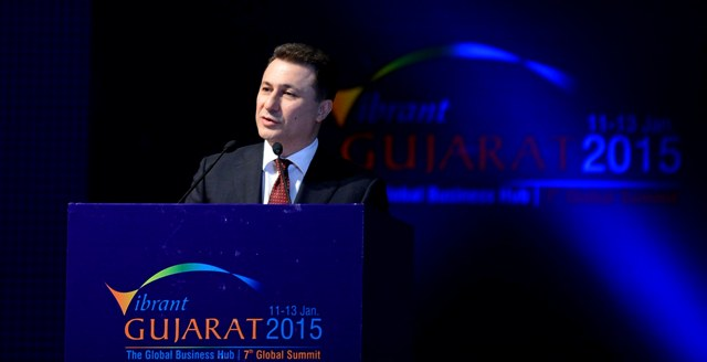 PM Gruevski in a business forum in India
