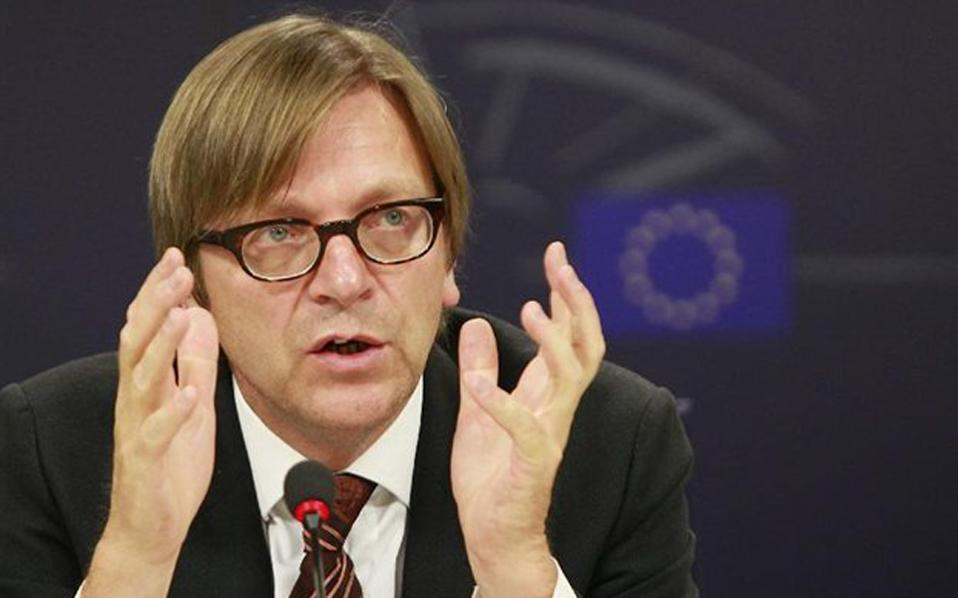 Guy Verhofstadt: Shock for the eurozone a possible bankruptcy of Greece