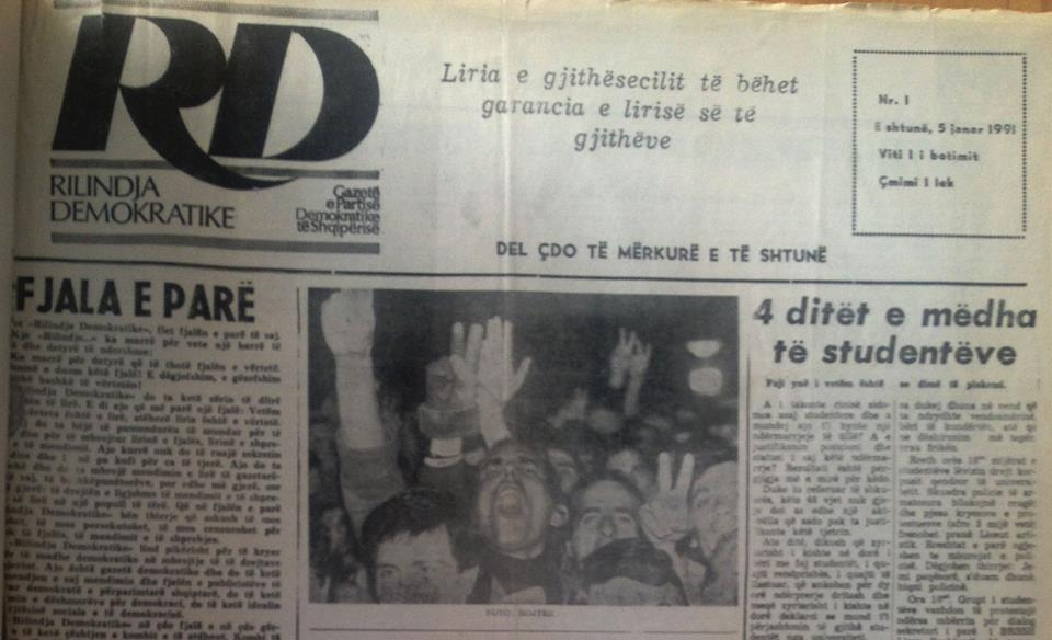 When Albanian free press was born after half a century of dictatorship