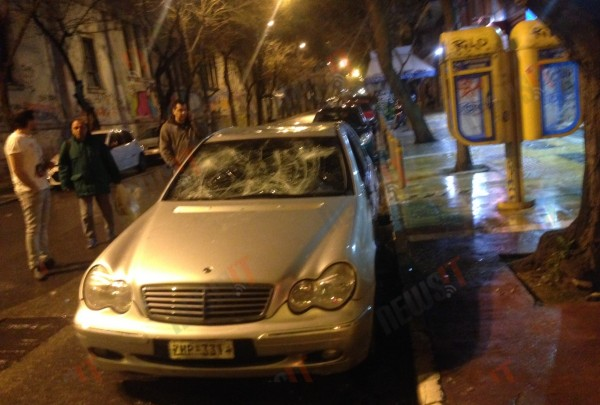 Violent episodes in the center of Athens by antiauthoritarians
