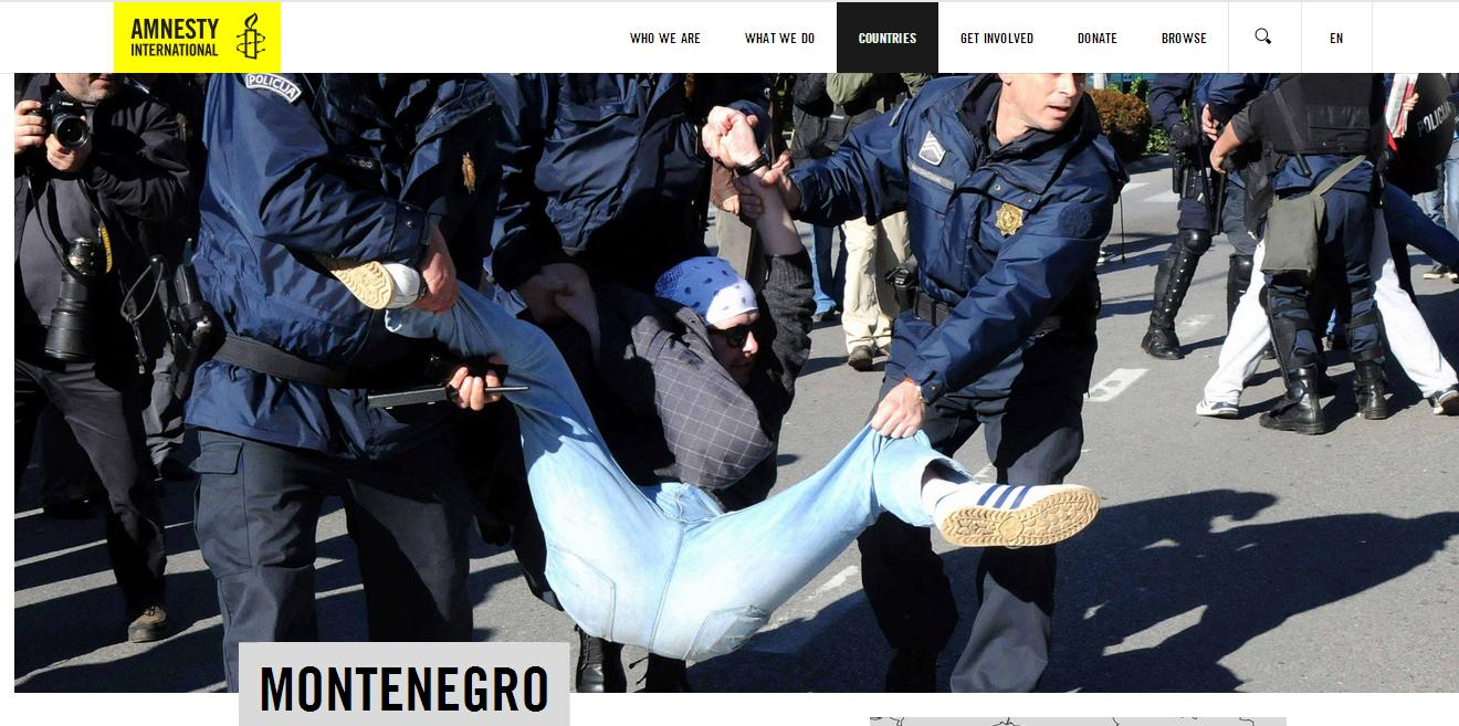 The old objections for Montenegro included again in Amnesty International report