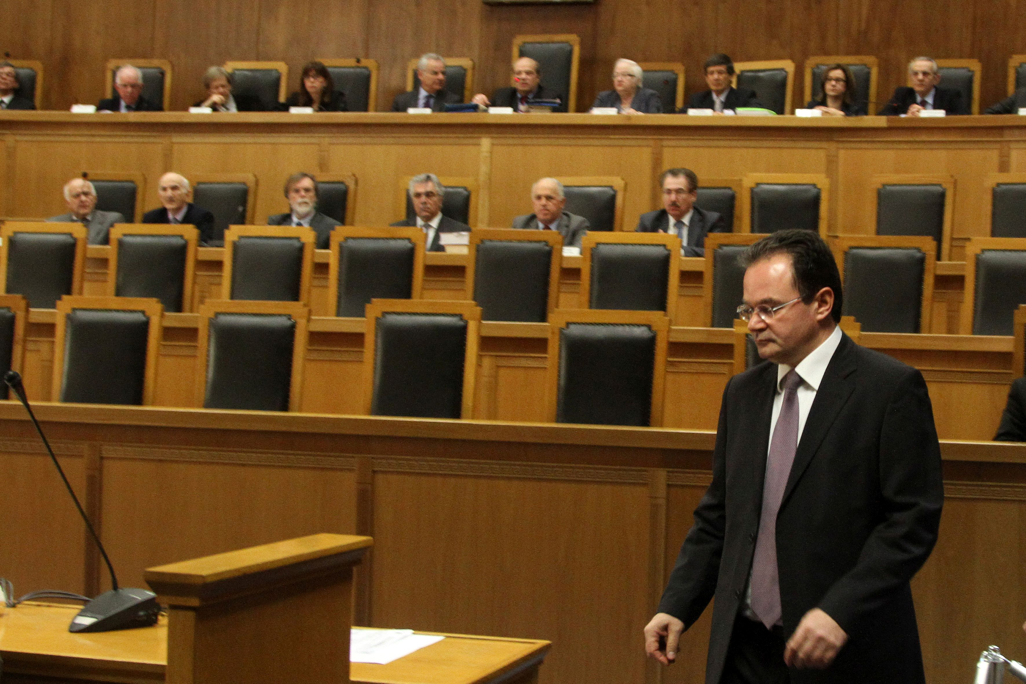 Former Greek FinMin before the court