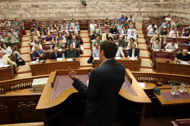 Alexis Tsipras asked members to clarify their position