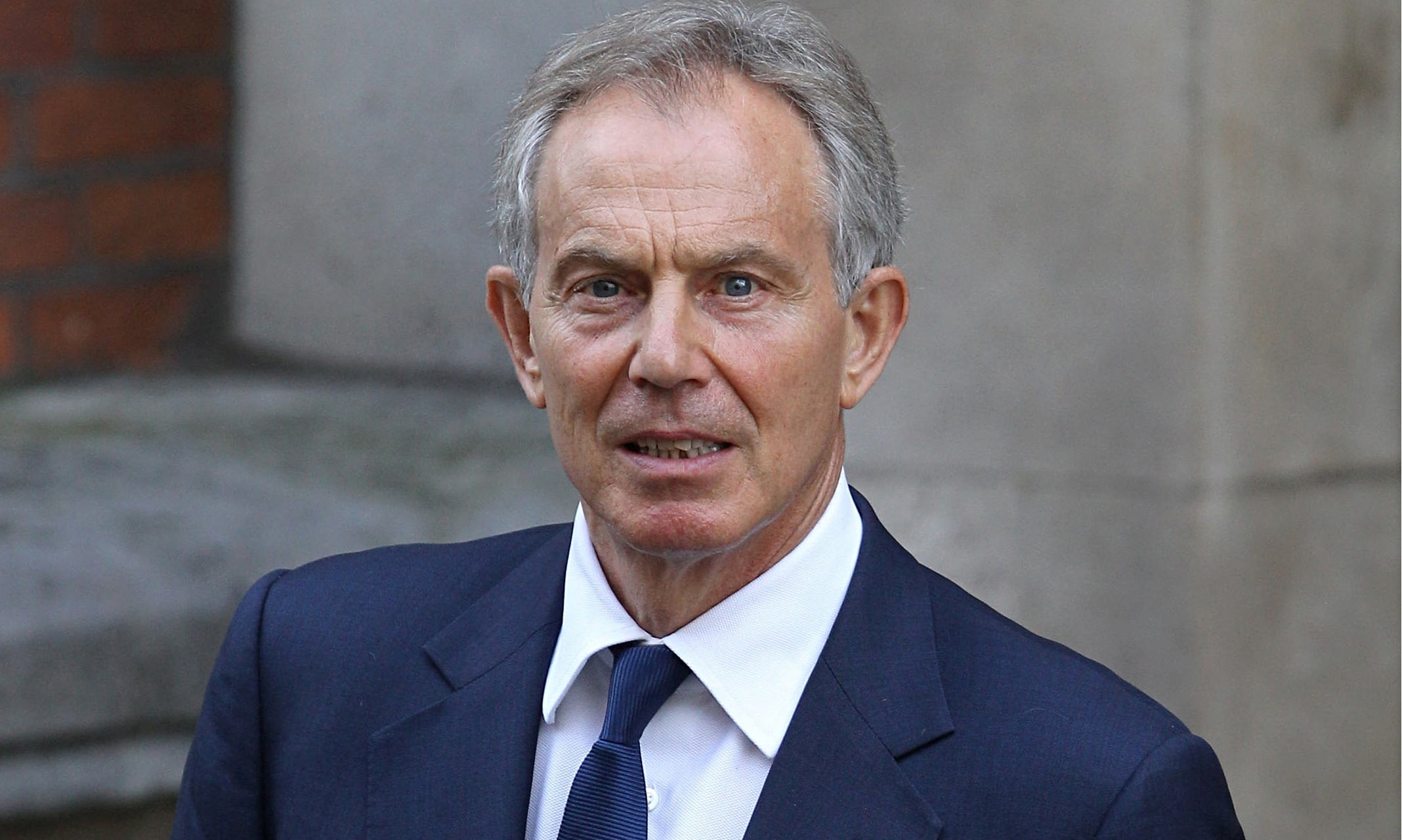 Blair gave a lecture to Serbian ministers