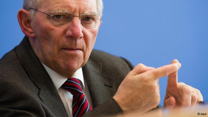 Schaeuble on a campaign to convince the German parliament