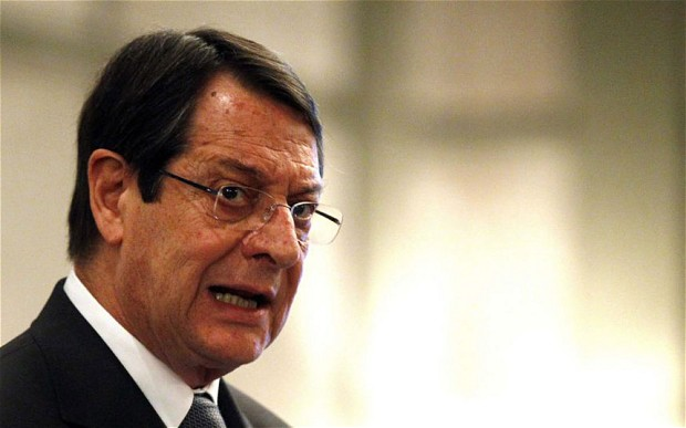 Anastasiades says his government will drive Cyprus out of crisis