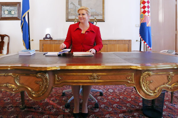 First working day of the new President of Croatia