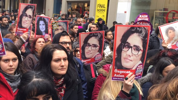 Demonstrations in Turkey for the brutal murder of 20-year old woman