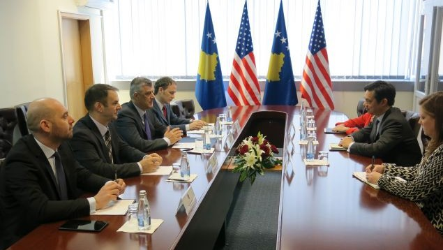 Foreign Minister Thaci demands  US support for accession of Kosovo in international institutions