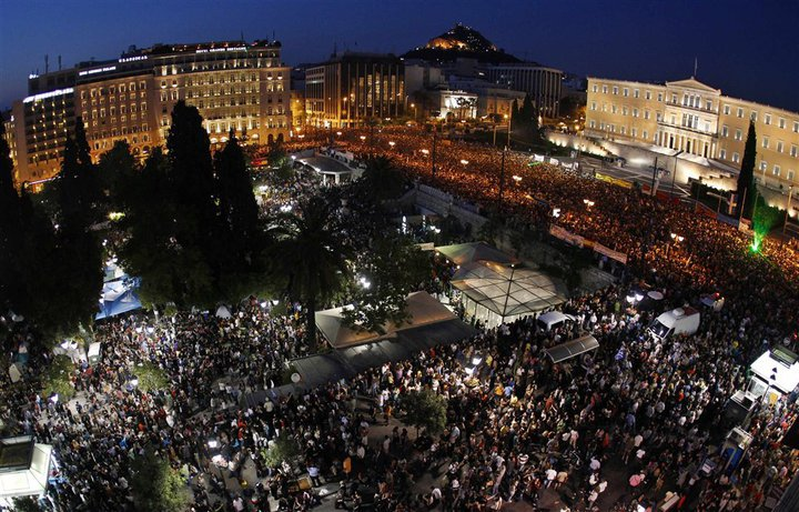 Rallies in Greece 'against the blackmail of the lenders'