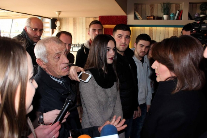 Kosovo's president continues her awareness campaign against illegal migration