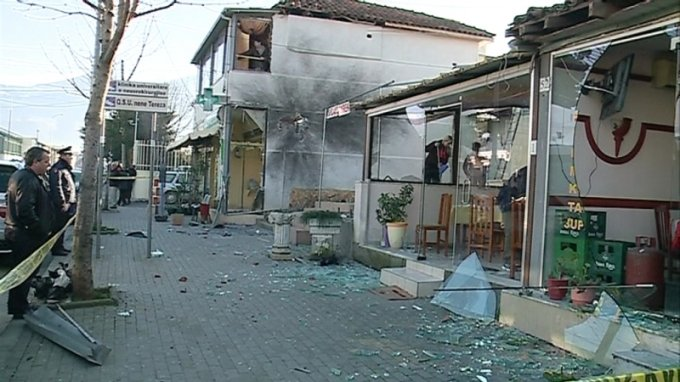 Three explosive blasts shock the Albanian capital