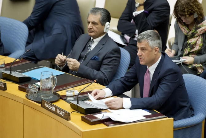Serbia is still living in the past, says PM Thaci in the UNO