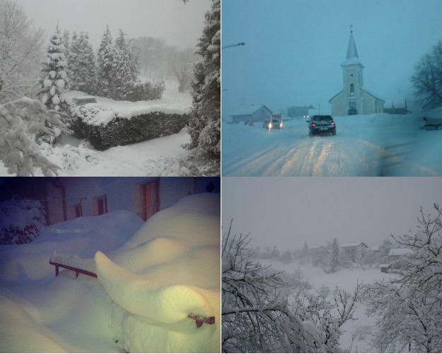 Snow, storm winds and blasts disable big parts of Croatia