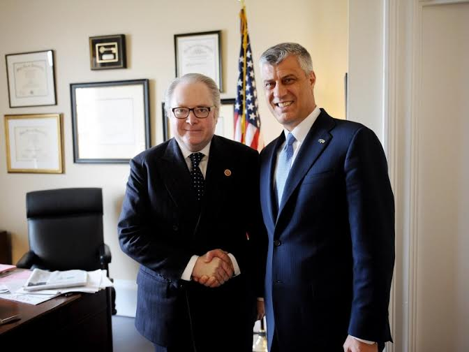 Thaci in Washington, Kosovo is an example of the fight against extremism and terrorism