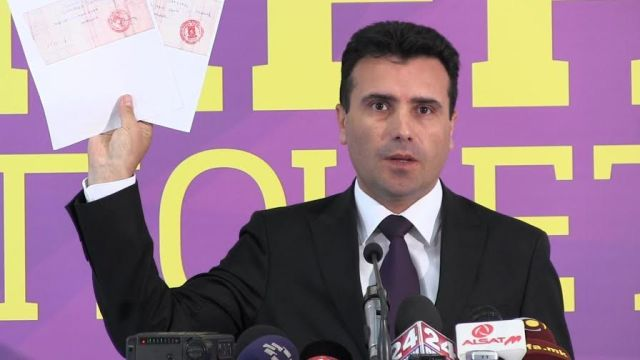 Macedonian opposition leader accused of spying and unlawful attempt to seize power