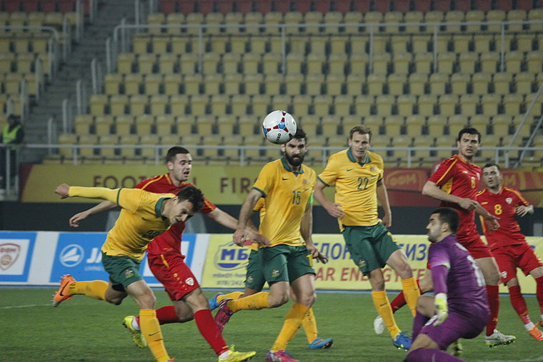 FYROM's national football side draws against Australia