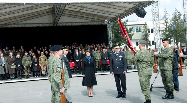 KSF is the most trusted institution in Kosovo, says president Jahjaga