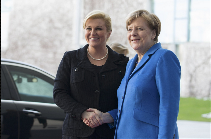 Grabar-Kitarovic on an official visit to Germany