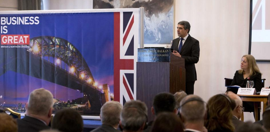 Bulgarian President Plevneliev praises bilateral co-operation in meeting with British trade mission