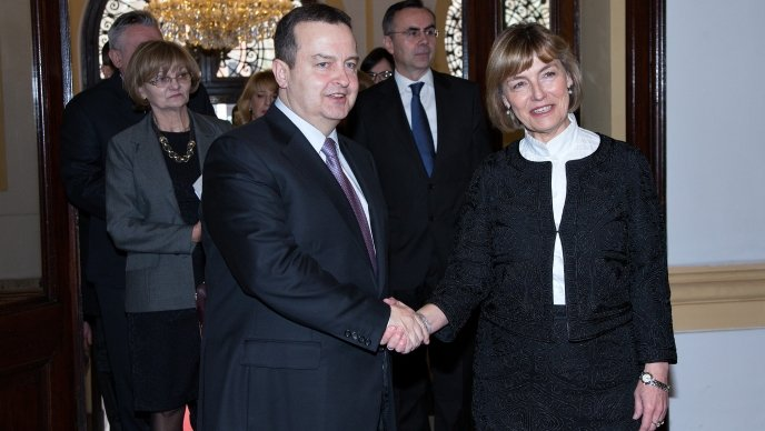 Ivica Dacic on an official visit to Croatia