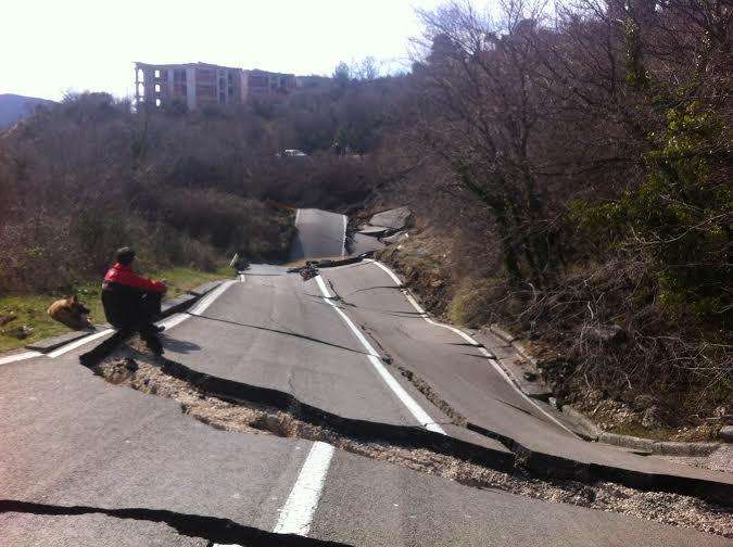 Landslide destroys one of the most important roads in Montenegro