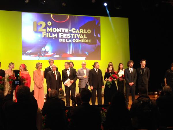 Albanian actress Yllka Mujo is awarded the Career award in the Comedy Festival in Monte Carlo