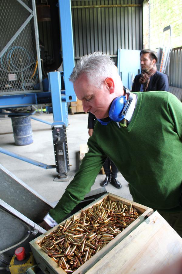 German Embassy delegation visits ammunition disposal facility in Doboj