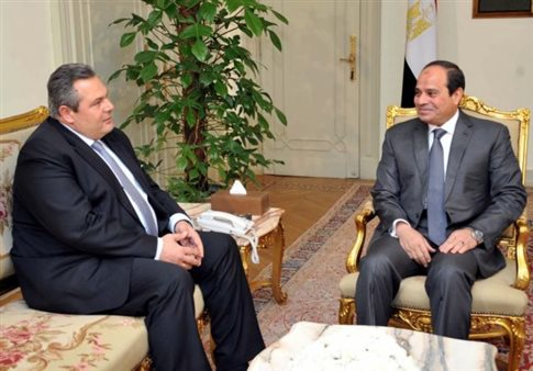 Kammenos – Al Sisi agree on defencive cooperation