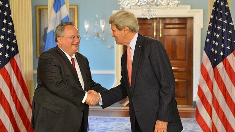 Kotzias – Kerry: Greece-US ties are strong