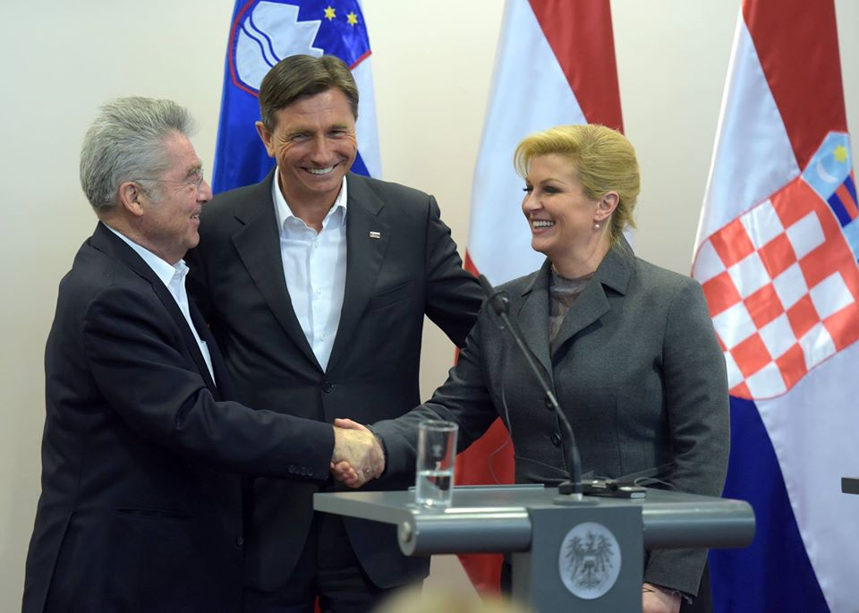 Presidents of Croatia, Slovenia and Austria talk of regional cooperation