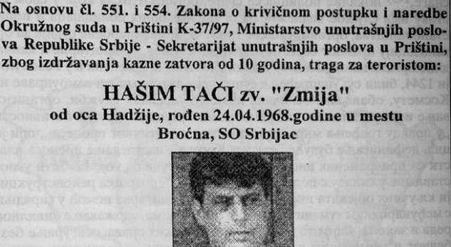 Thaci visits Belgrade, his arrest is warned