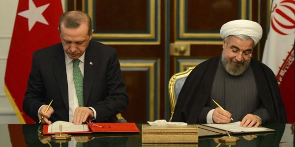 Recep Tayyip Erdogan on an official visit to Iran
