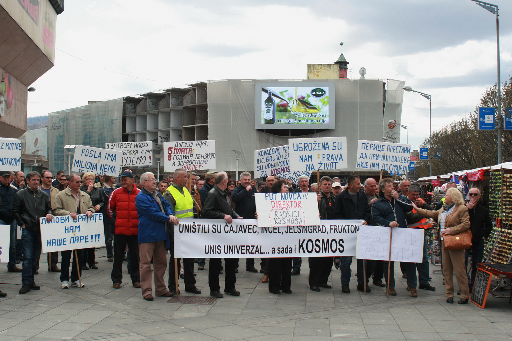 Part of 'Kosmos' employees protest – others go to work normally