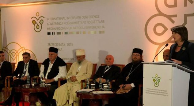 Religions must promote peace and diversity, says the president of Kosovo