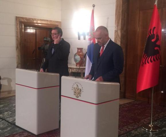 Vucic in Tirana: Kosovo is Serbia. Rama: I do not feel provoked