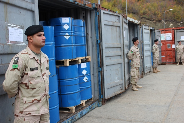Albania takes 116 tons of dangerous chemicals out of its territory
