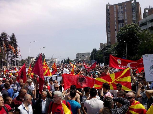 Massive protests take place in Skopje